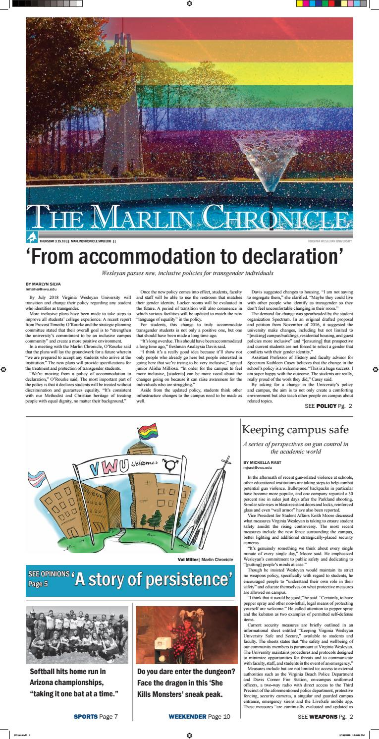 March 15, 2018 by The Marlin Chronicle - issuu