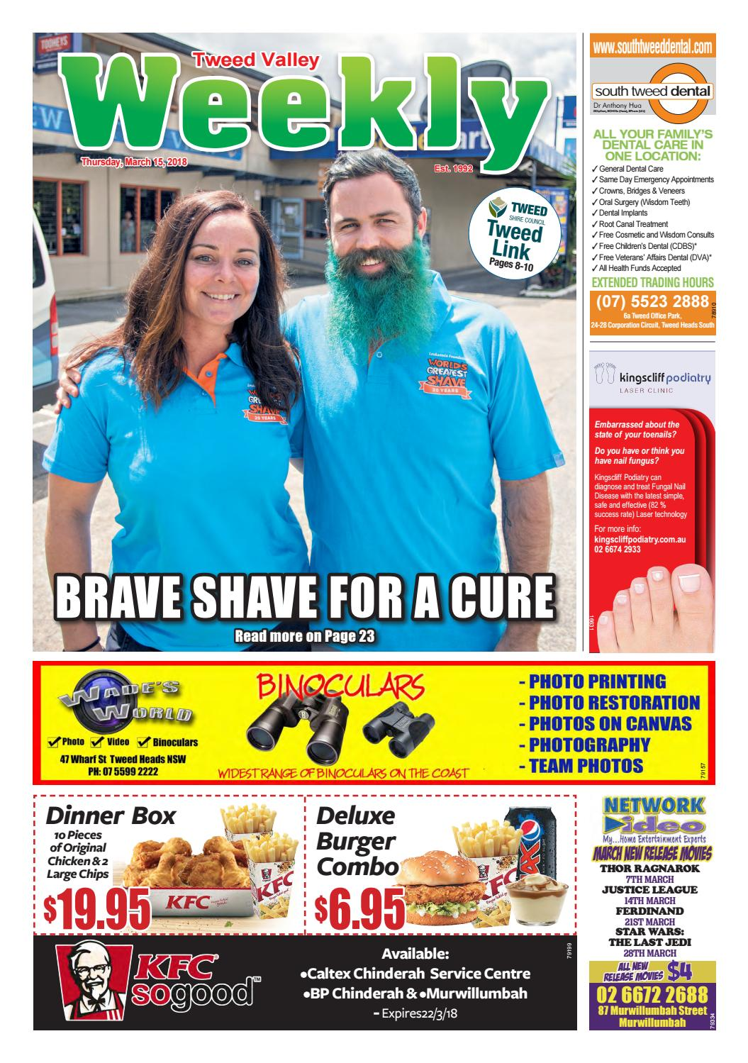 Tweed Valley Weekly, March 15, 2018 by Tweed Valley Weekly