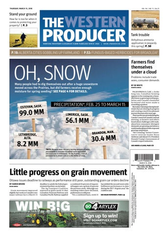 3a7e71171f4 The western producer march 15 2018 by The Western Producer - issuu