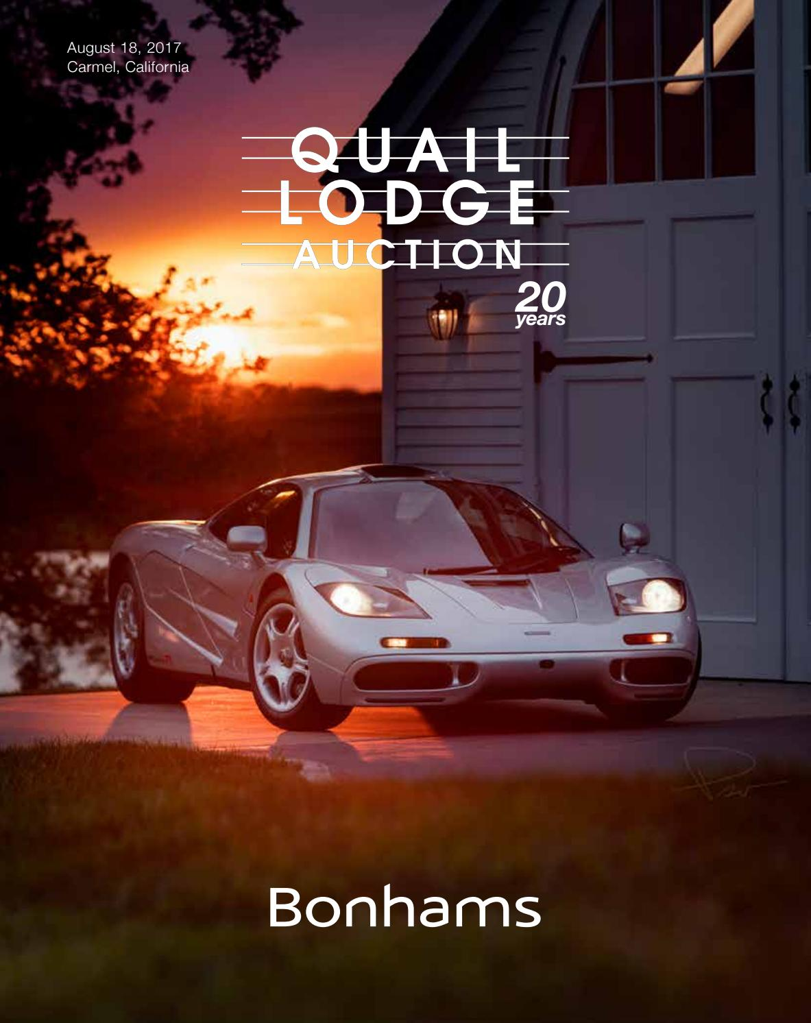 Bonhams Quail lodge auction 2017 - 20 years by guido