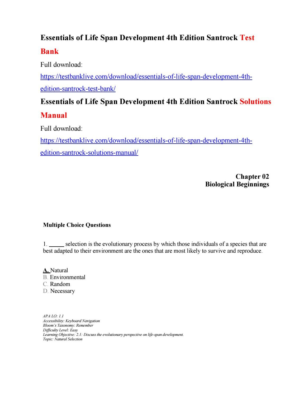 How to get essentials of life span development 4th edition.
