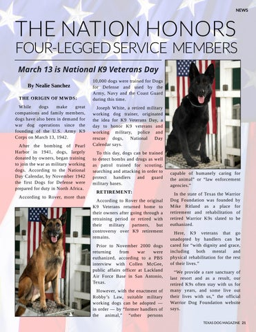 Page 21 of The nation honors four-legged service members