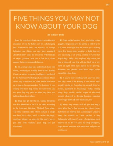 Page 23 of Five things you may not  know about your dog