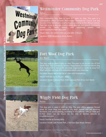 Page 7 of Top dog parks around the Dallas-Fort Worth metroplex