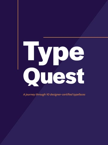 Type Quest by laurenjmarshall14 - issuu