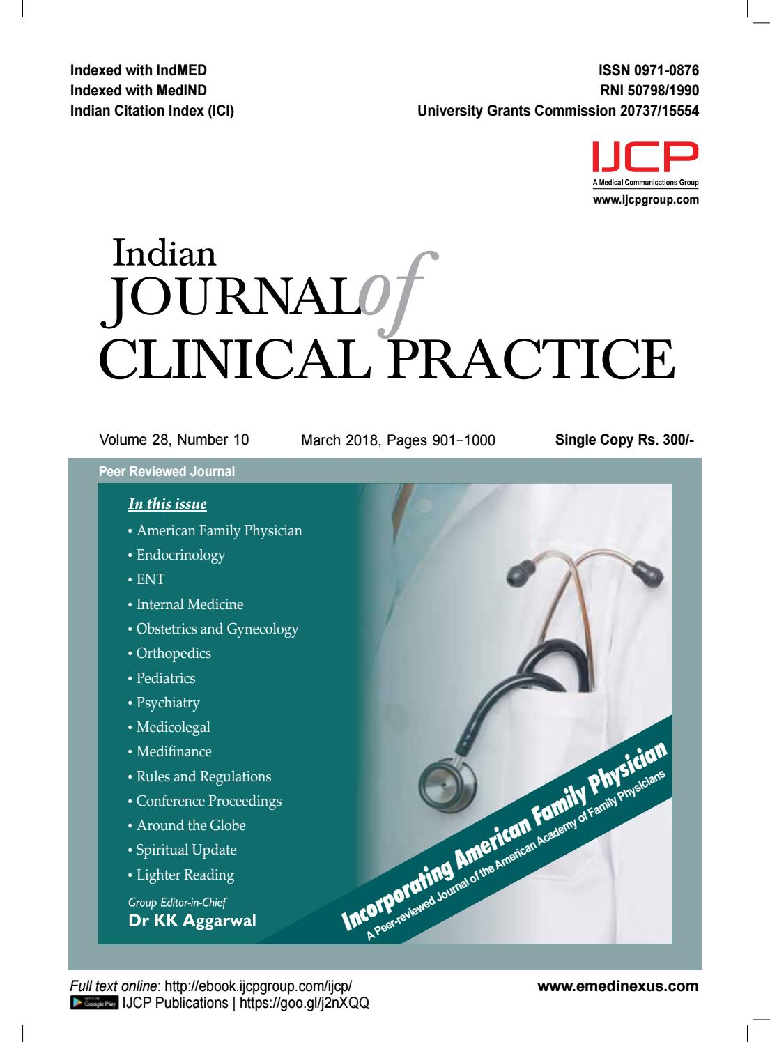 Ijcp march 2018 by IJCP - issuu