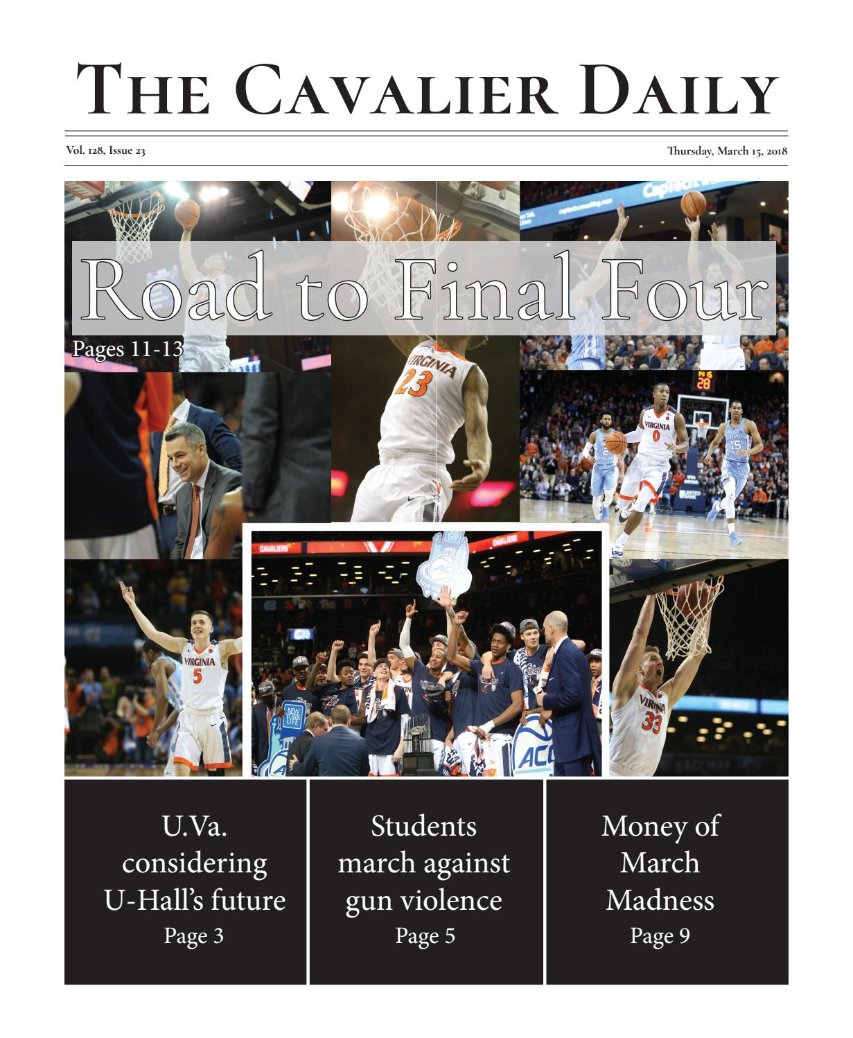 Recreation In Madison On Ides Of March >> Thursday March 15 2018 By The Cavalier Daily Issuu