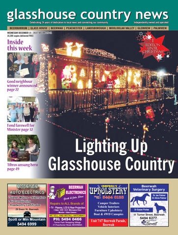 Countryamp; Edition 15th December Maleny News 12 By 2010 Glasshouse Jcu1lK3TF