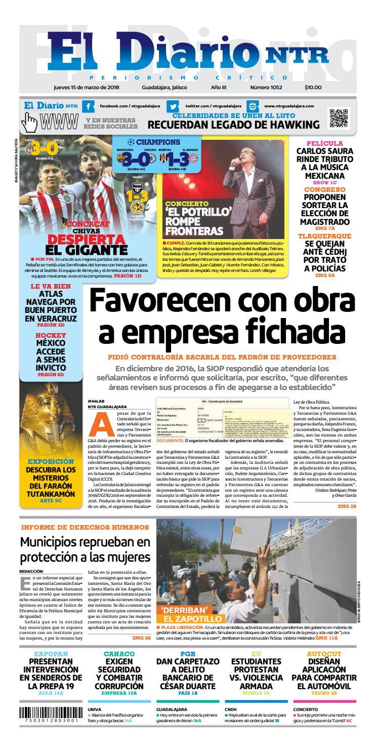 El Diario NTR 1052 by NTR Guadalajara - issuu 2cac2007b23