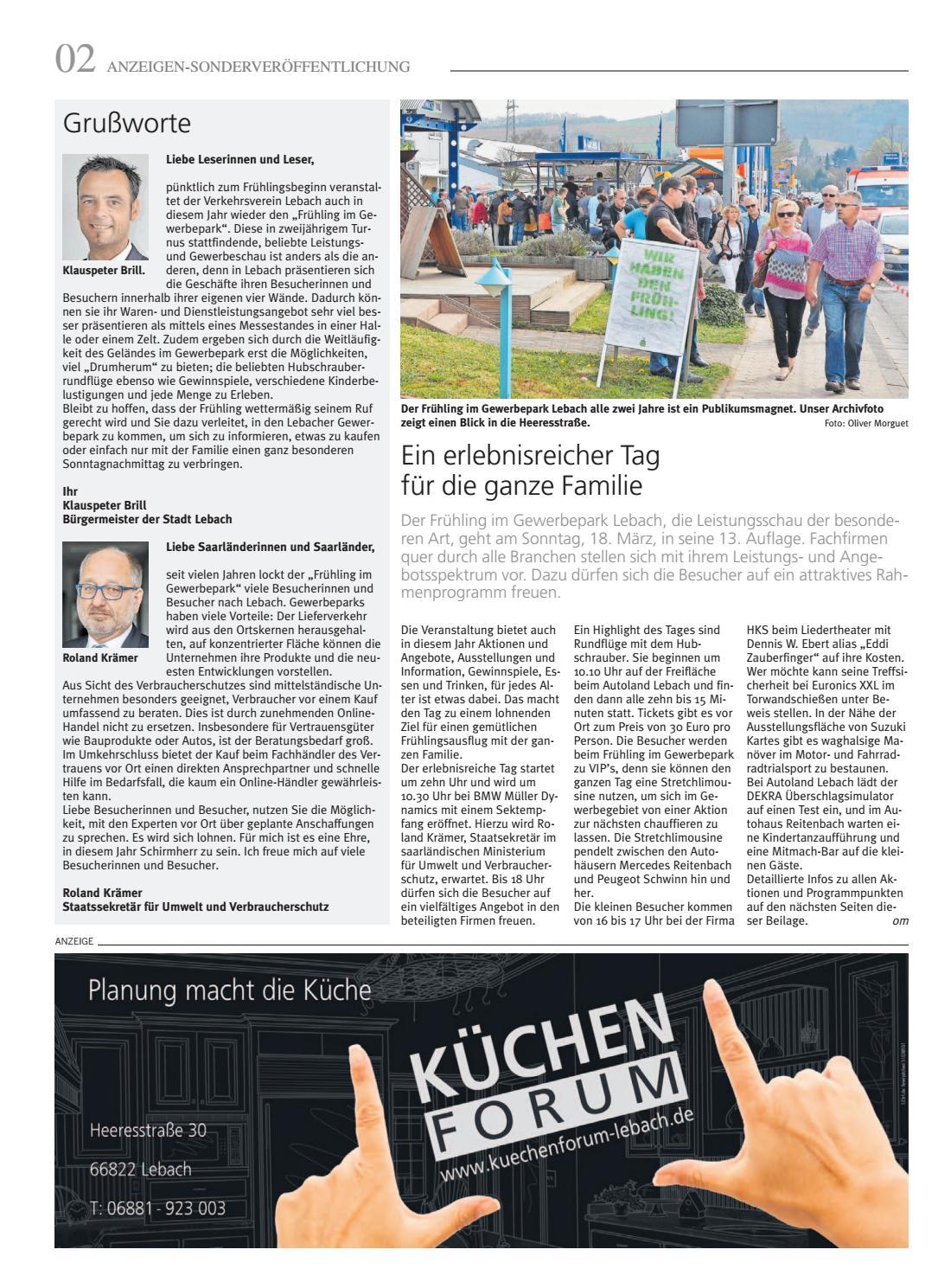 Gewerbepark Lebach 15 03 2018 By Saarbrucker Verlagsservice Gmbh Issuu