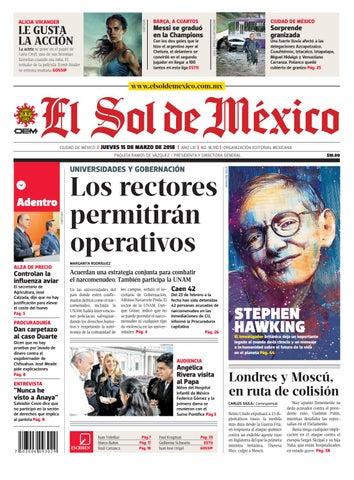 8da630a12 El Sol de México 15 de marzo 2018 by El Sol de México - issuu