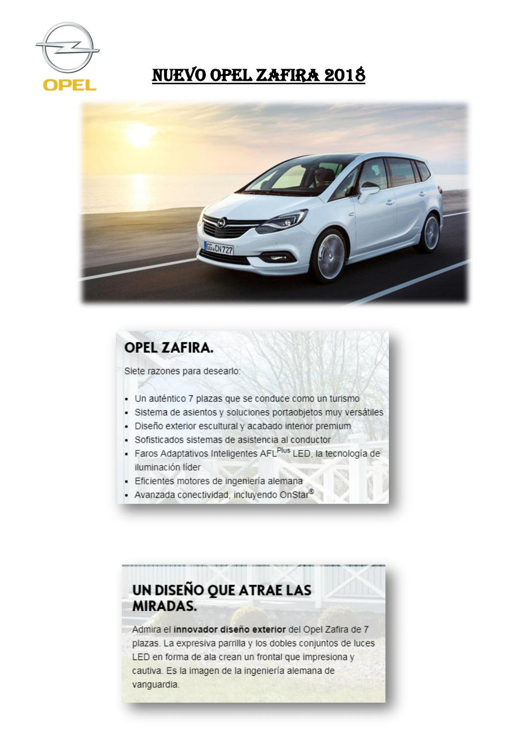 Nuevo opel zafira 2018 by FRANCISCO - issuu d9c7b16016a