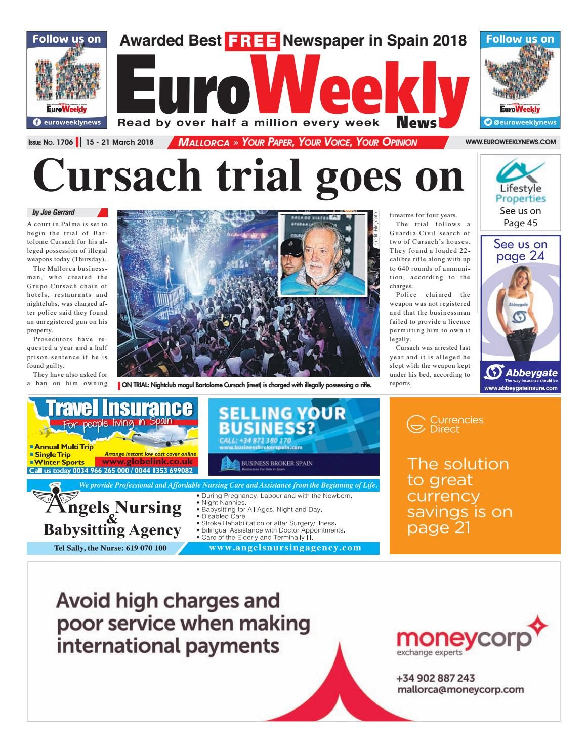 Euro weekly news mallorca 15 21 march 2018 issue 1706 by euro euro weekly news mallorca 15 21 march 2018 issue 1706 by euro weekly news media sa issuu fandeluxe Image collections