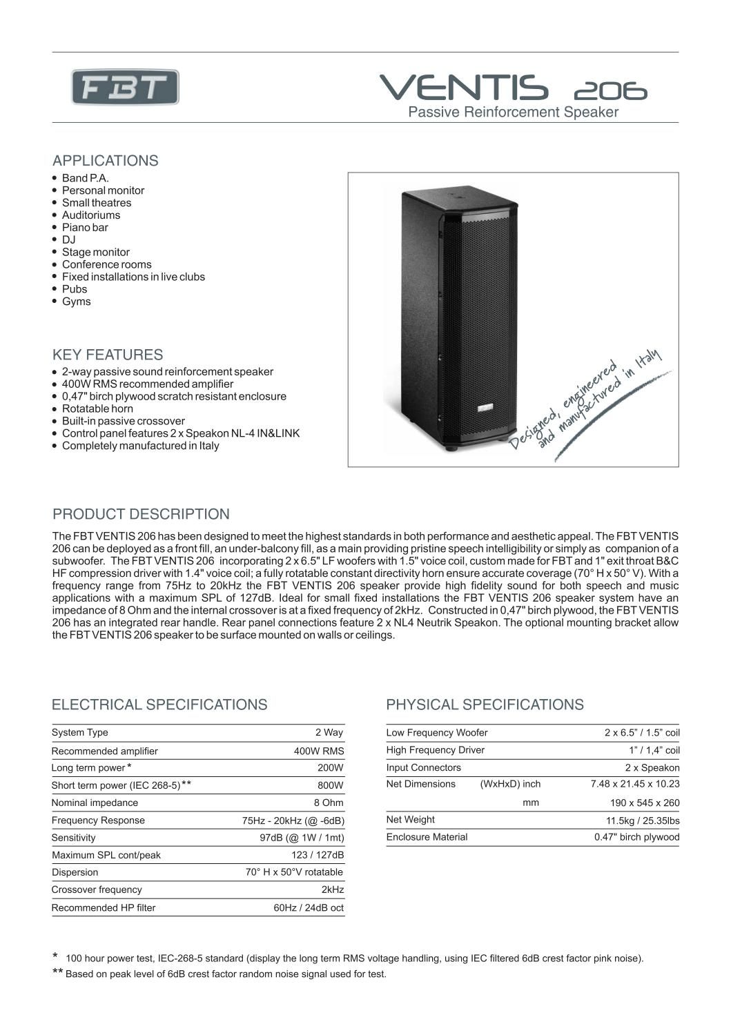 Ventis 206 by FBT Elettronica S p A  - issuu
