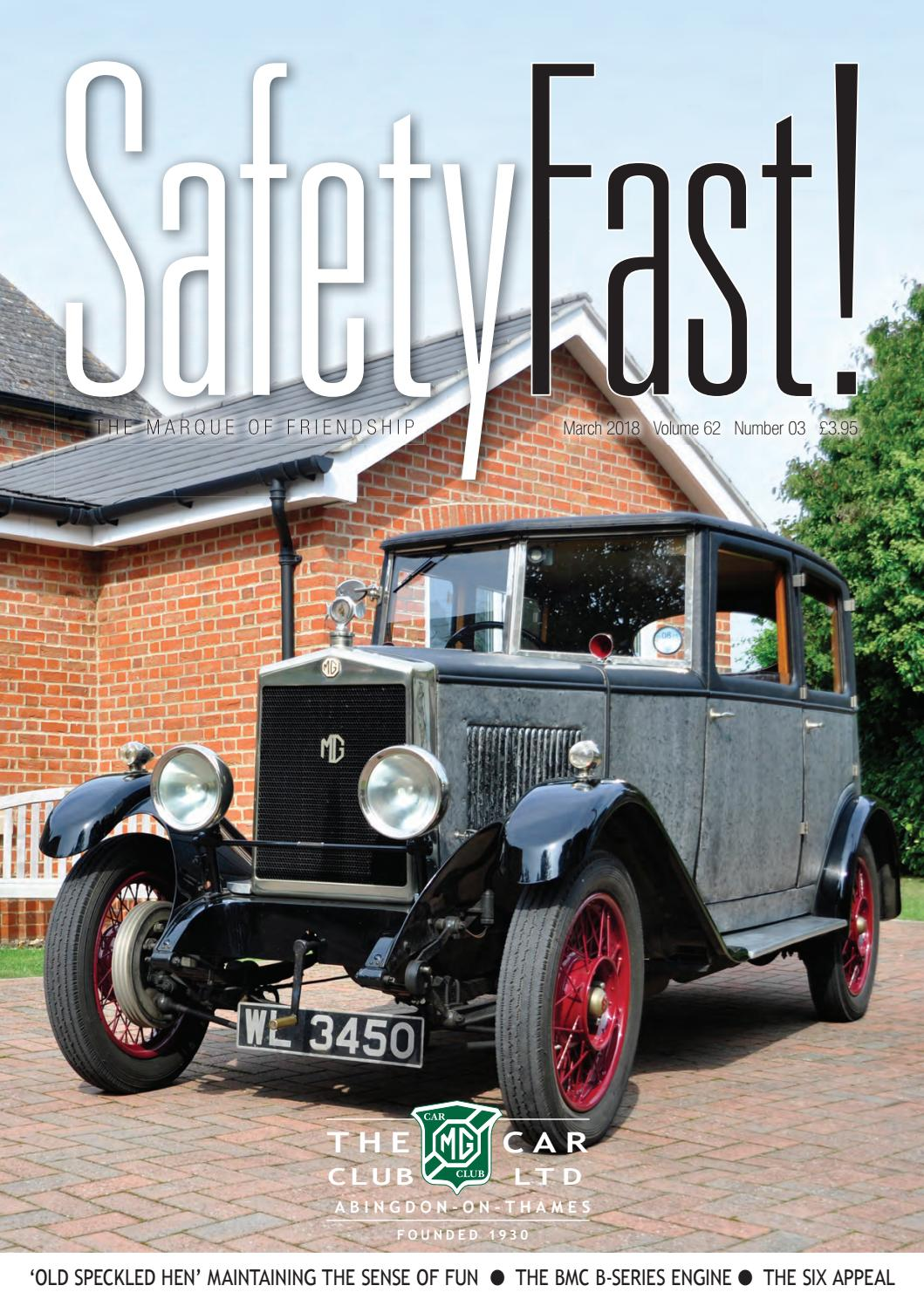 SafetyFast! March 2018 by MG Car Club - issuu
