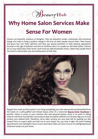 Why Home Salon Services Make Sense For Women by Beauty Hub