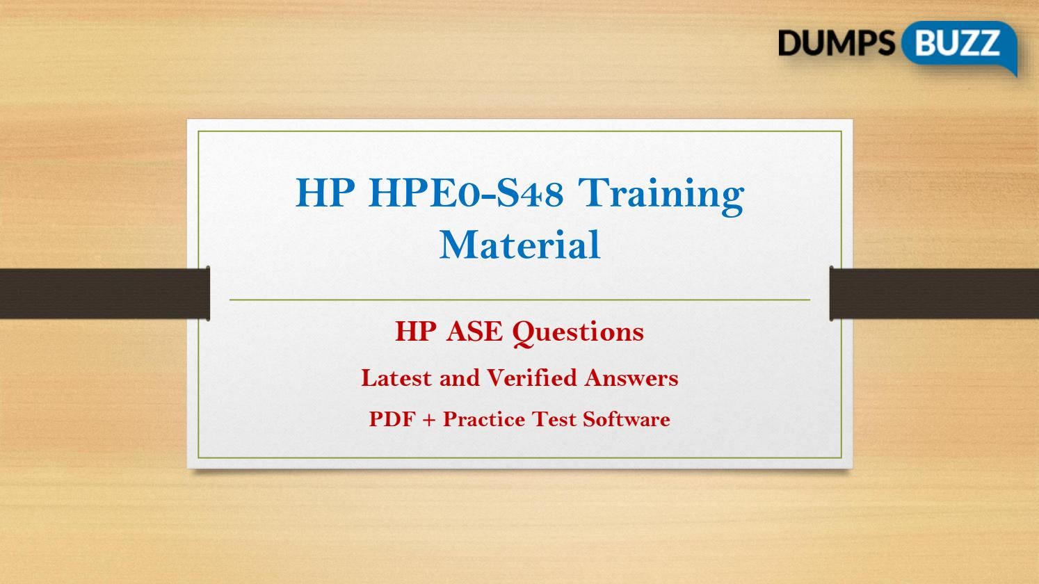 Valid Hpe0 S48 Exam Vce Pdf Questions By Maryrodgers Issuu
