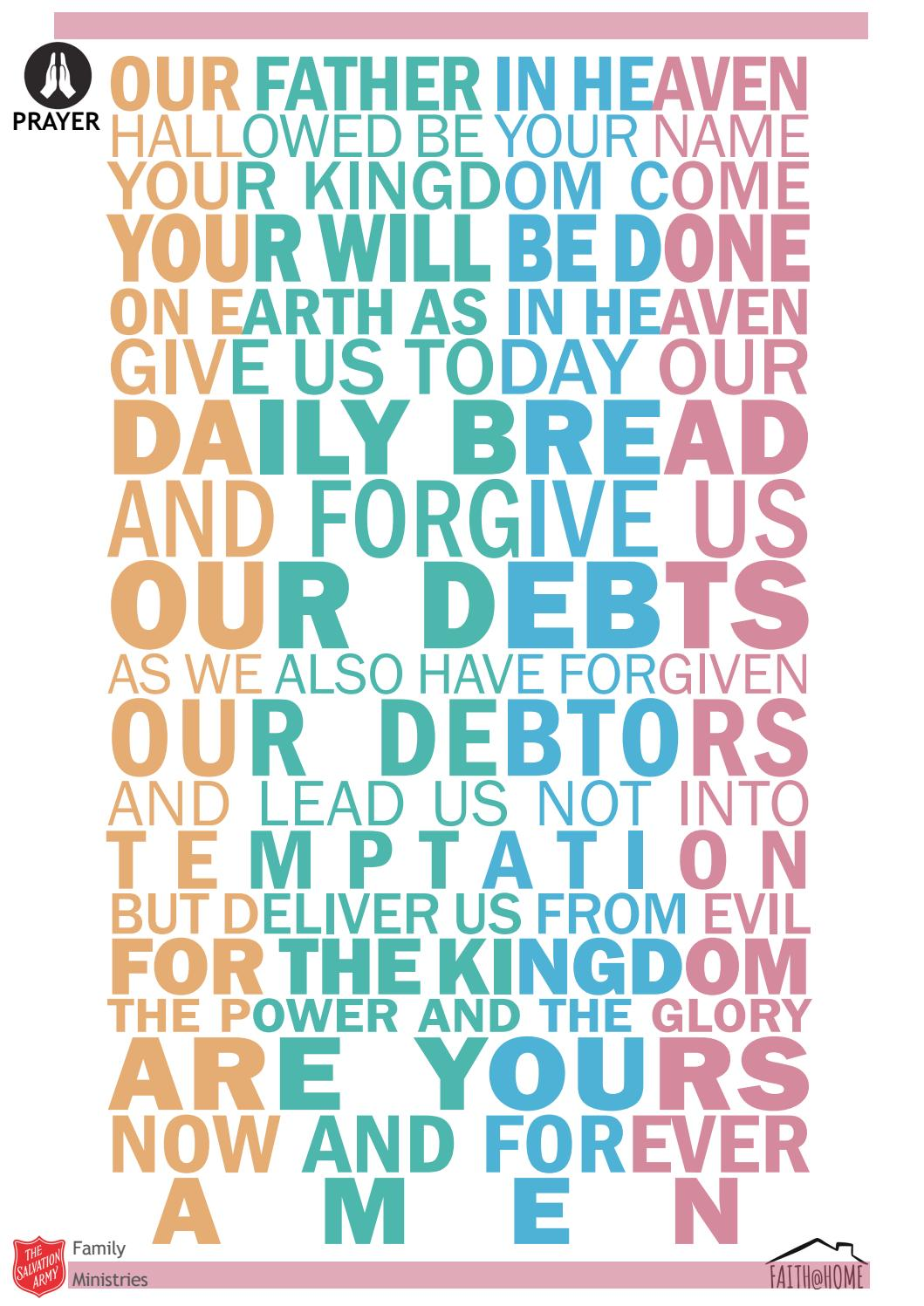 Prayer - The Lord's Prayer (Faith @ Home) by The Salvation