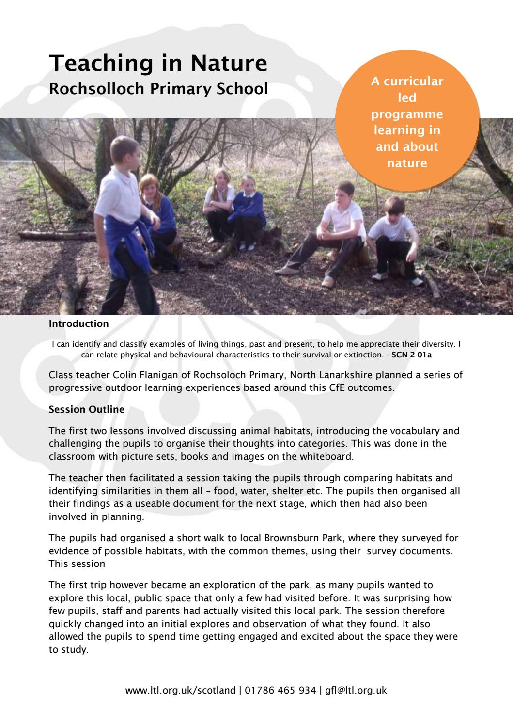 Teaching in Nature Case Study: Rochsolloch Primary School by