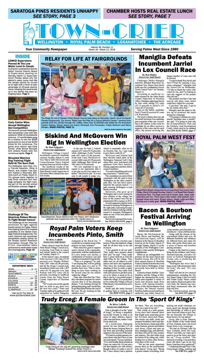 Town-Crier Newspaper March 16 10da2f032