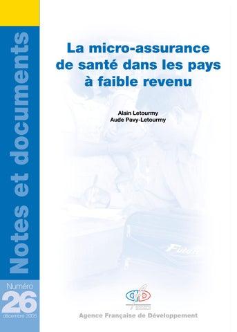 cf5533453a9 La micro-assurance de santé dans les pays à faible revenu by Agence ...