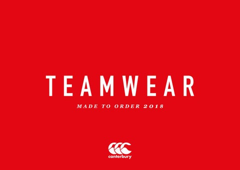Canterbury teamwear 2018 mto catalogue by truesportingcolours - issuu be8ee3876cb3f