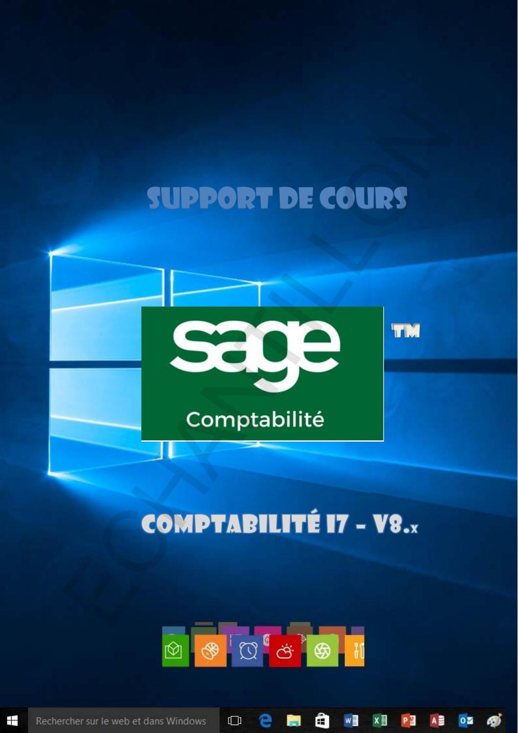 Support De Cours Sage Comptabilite I7 V8 By Joel Green Issuu