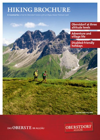 af81bb63eb7834 Hiking Brochure 2018 by Tourismus Oberstdorf - issuu