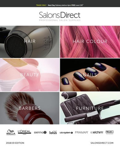 36f625b48b0 Salons Direct Catalogue 2018/2019 by Salons Direct - issuu