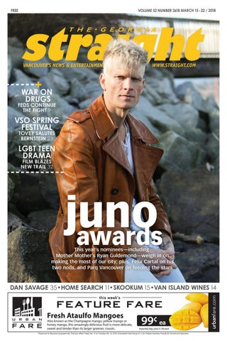 The Georgia Straight Juno Awards March 15 2018 By The Georgia
