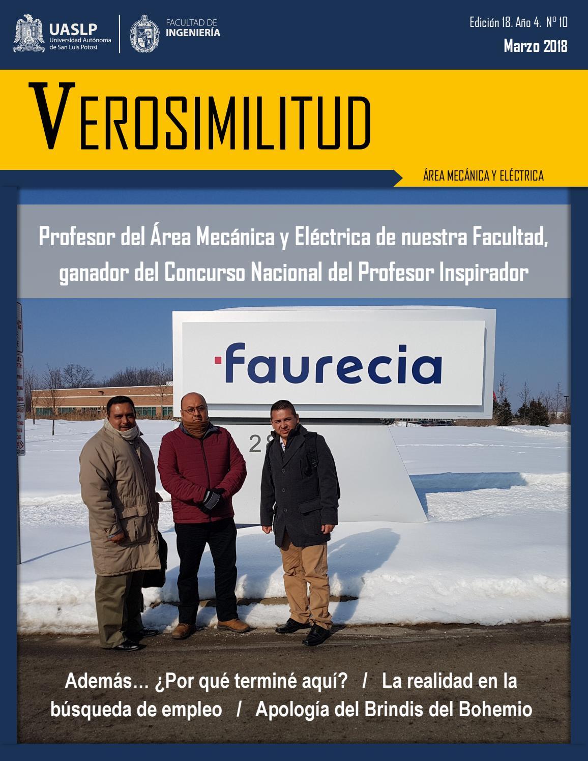 Verosimilitud, Marzo 2018 by Universidad Autónoma de San Luis Potosí ...