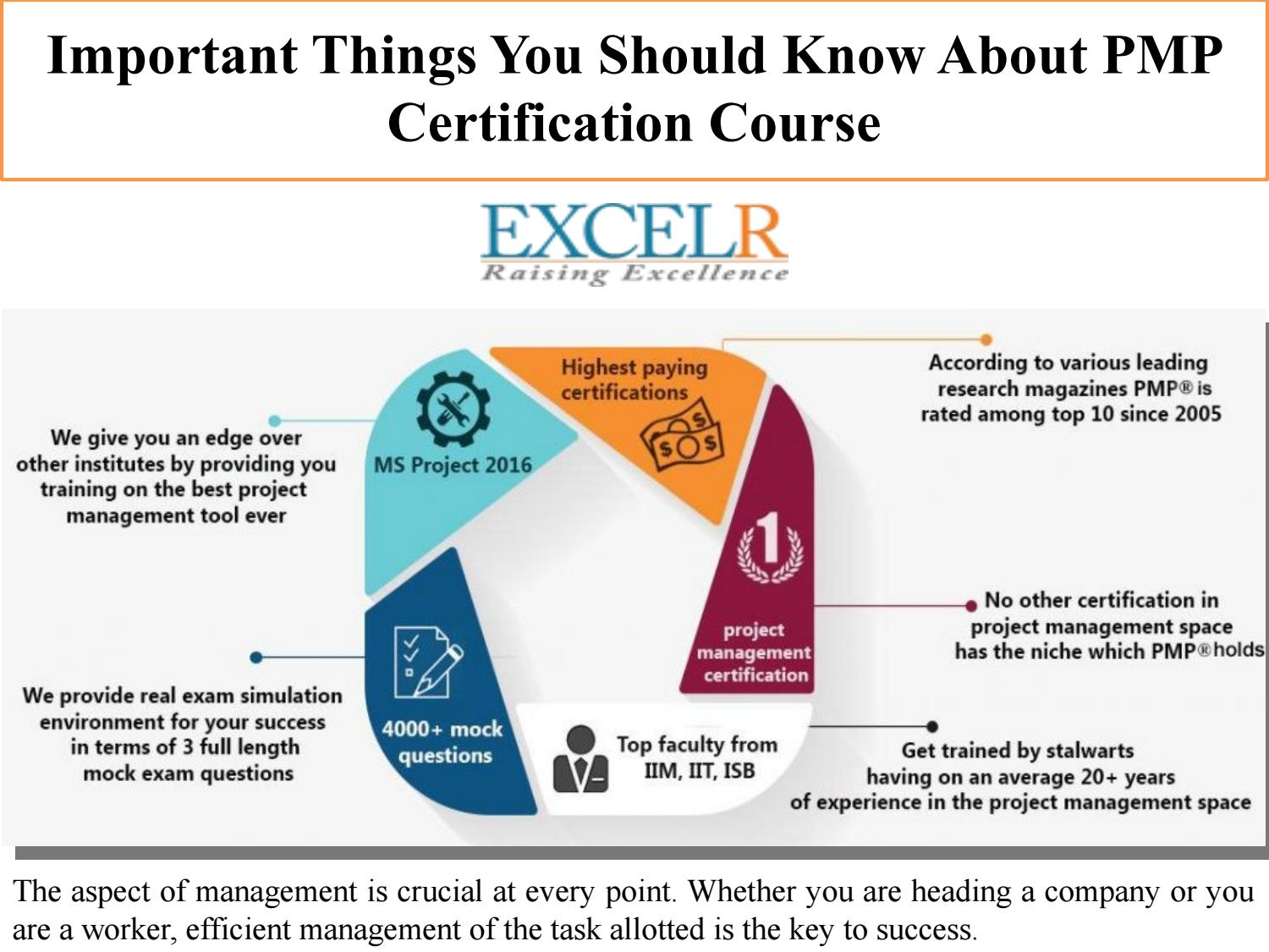 Important Things You Should Know About Pmp Certification Course By