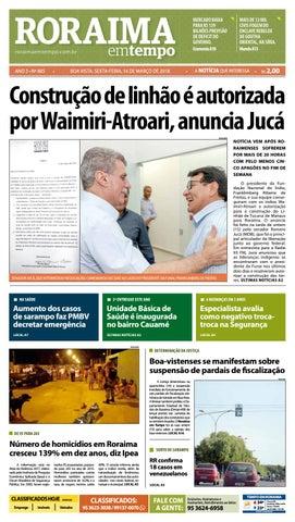 af59b74eb2823 Jornal roraima em tempo – edição 885 by RoraimaEmTempo - issuu