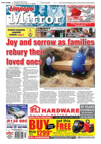 16 March 2018 Limpopo Mirror by Zoutnet - issuu
