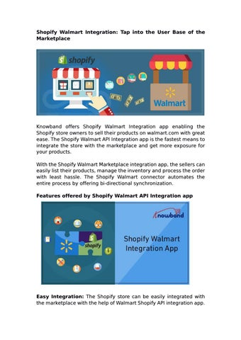 Shopify Walmart Integration App by Knowband by Knowband - issuu