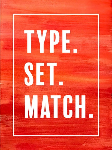 Type  Set  Match  by mollyeichten - issuu
