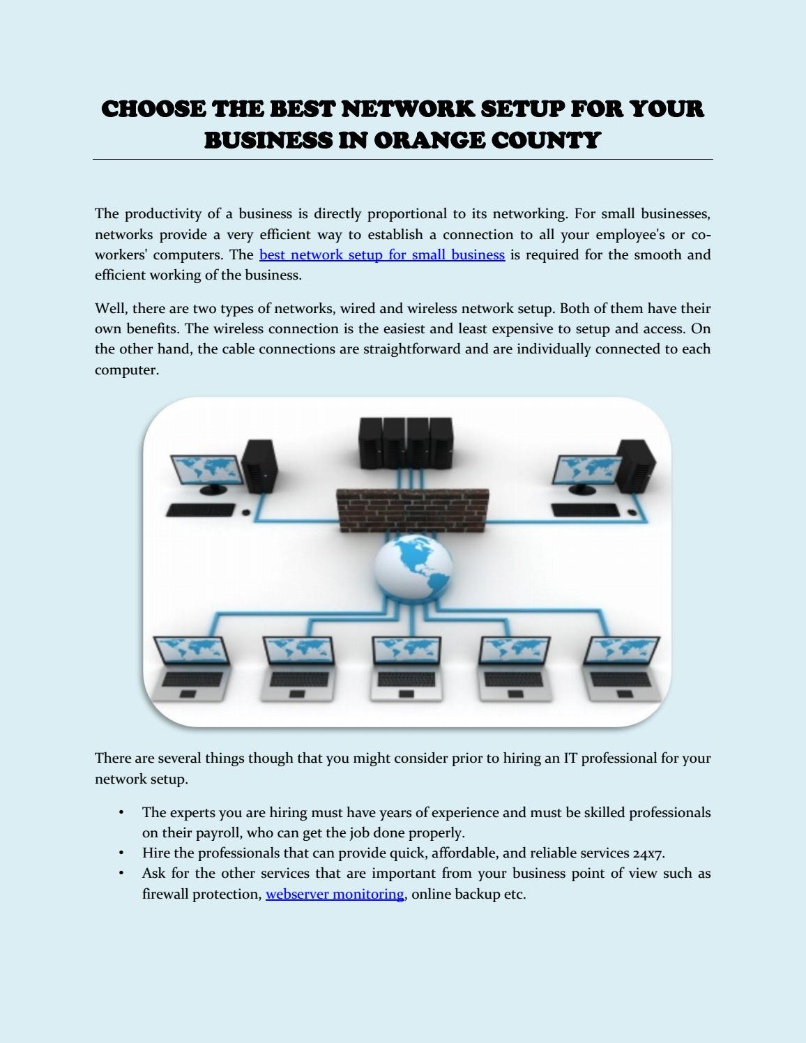 Choose the Best Network Setup for Your Business in Orange County by ...