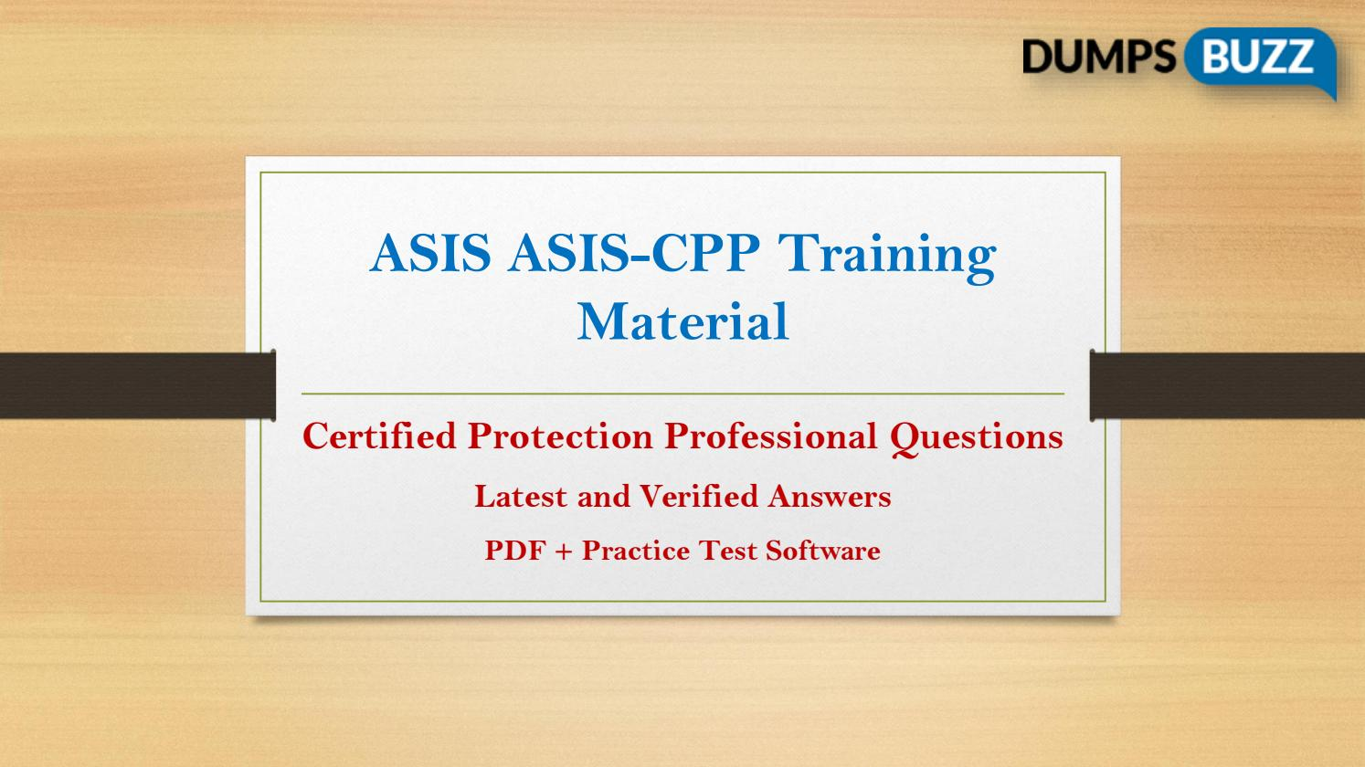Asis ASIS-CPP test dumps with success promise on first attempt by  Genevapierson - issuu