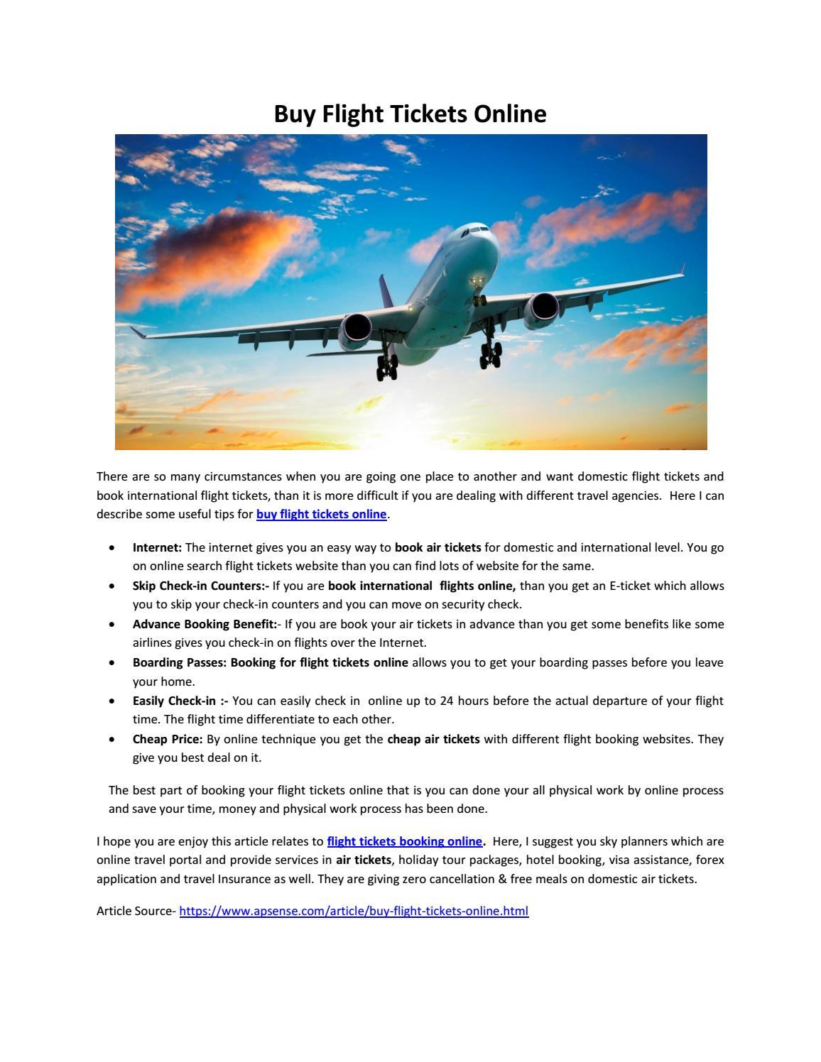 Buy flight tickets online by skyplanners - issuu