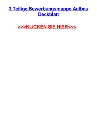 3 Teilige Bewerbungsmappe Aufbau Deckblatt By Emilyowppm Issuu