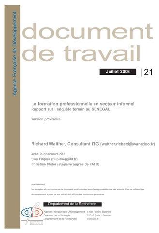 95417c3b01e La Formation Professionnelle en Secteur Informel - Rapport sur l ...