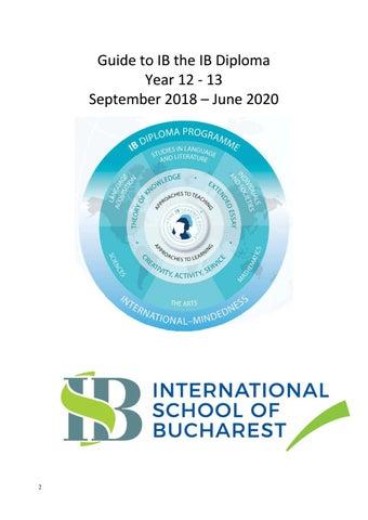 2018 ib handbook by International School of Bucharest - issuu
