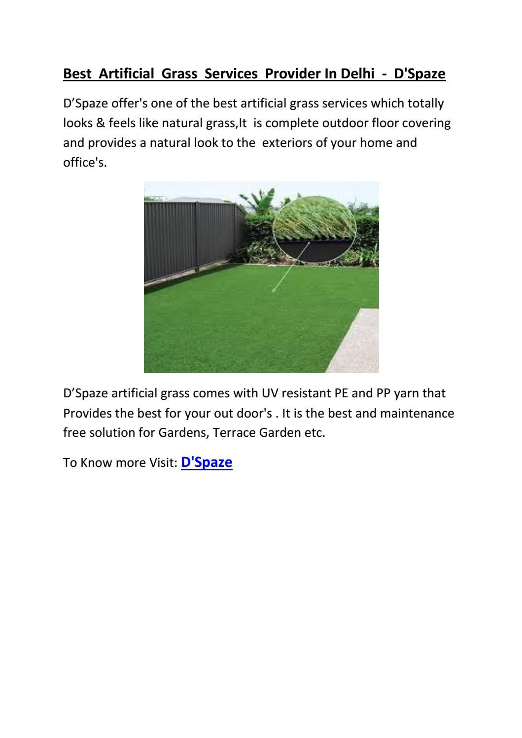 Best artificial grass services provider in delhi d\u0027spaze by