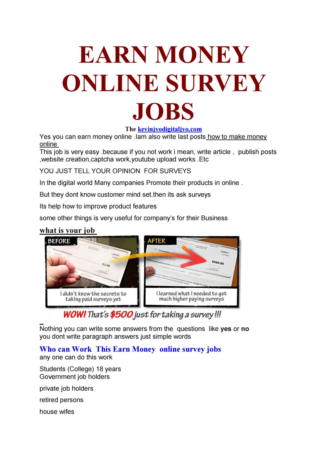 paid surveys for college students