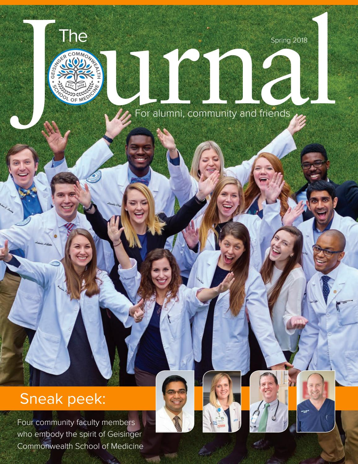 GCSOM Journal - Spring 2018 by GeisingerCommonwealth - issuu