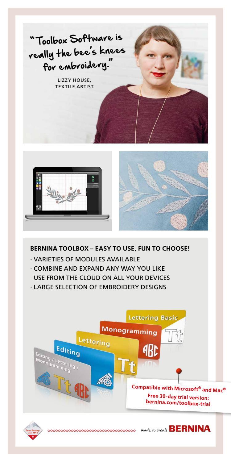 BERNINA Toolbox Embroidery Software brochure English by Bernina