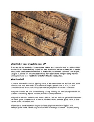 Wood What Kind Of Are Pallets Made