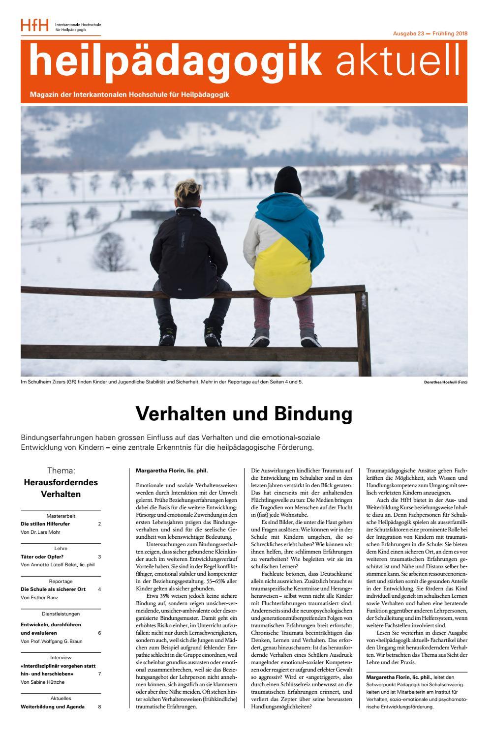 heilpädagogik aktuell», Nummer 23, Frühjahr 2018 by Interkantonale ...