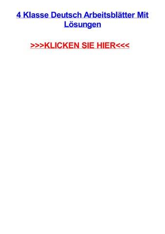 4 Klasse Deutsch Arbeitsbltter Mit Lsungen By Amandaqmks Issuu
