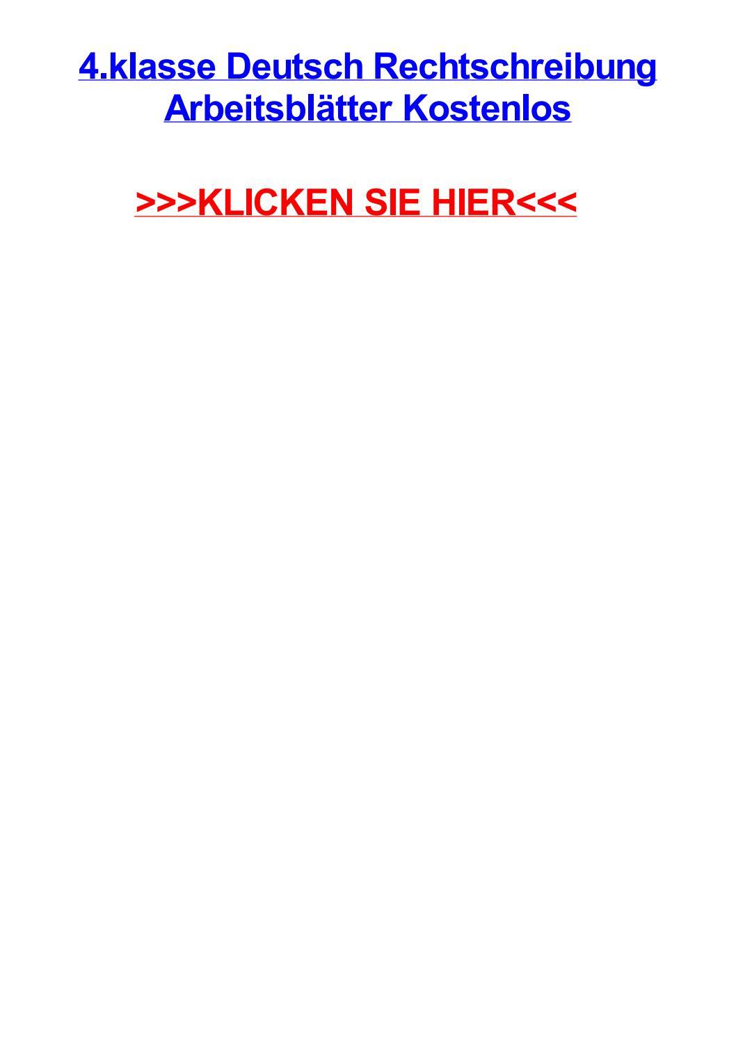 4 klasse deutsch rechtschreibung arbeitsbltter kostenlos by ...